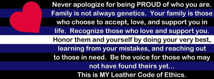 Leather Code of Ethics